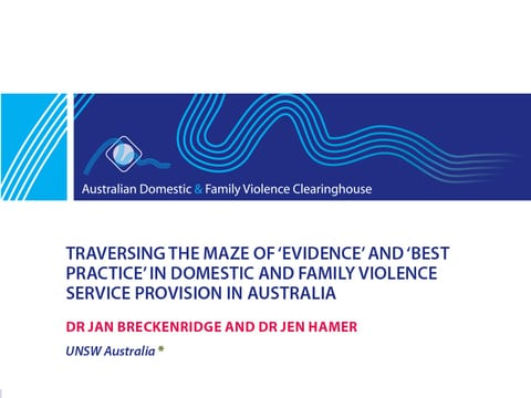 New ADFV Clearinghouse/ANROWS paper on domestic and family violence best practice