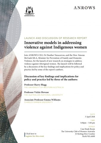 Report Launch & Discussion: Innovative models in addressing violence against Indigenous women